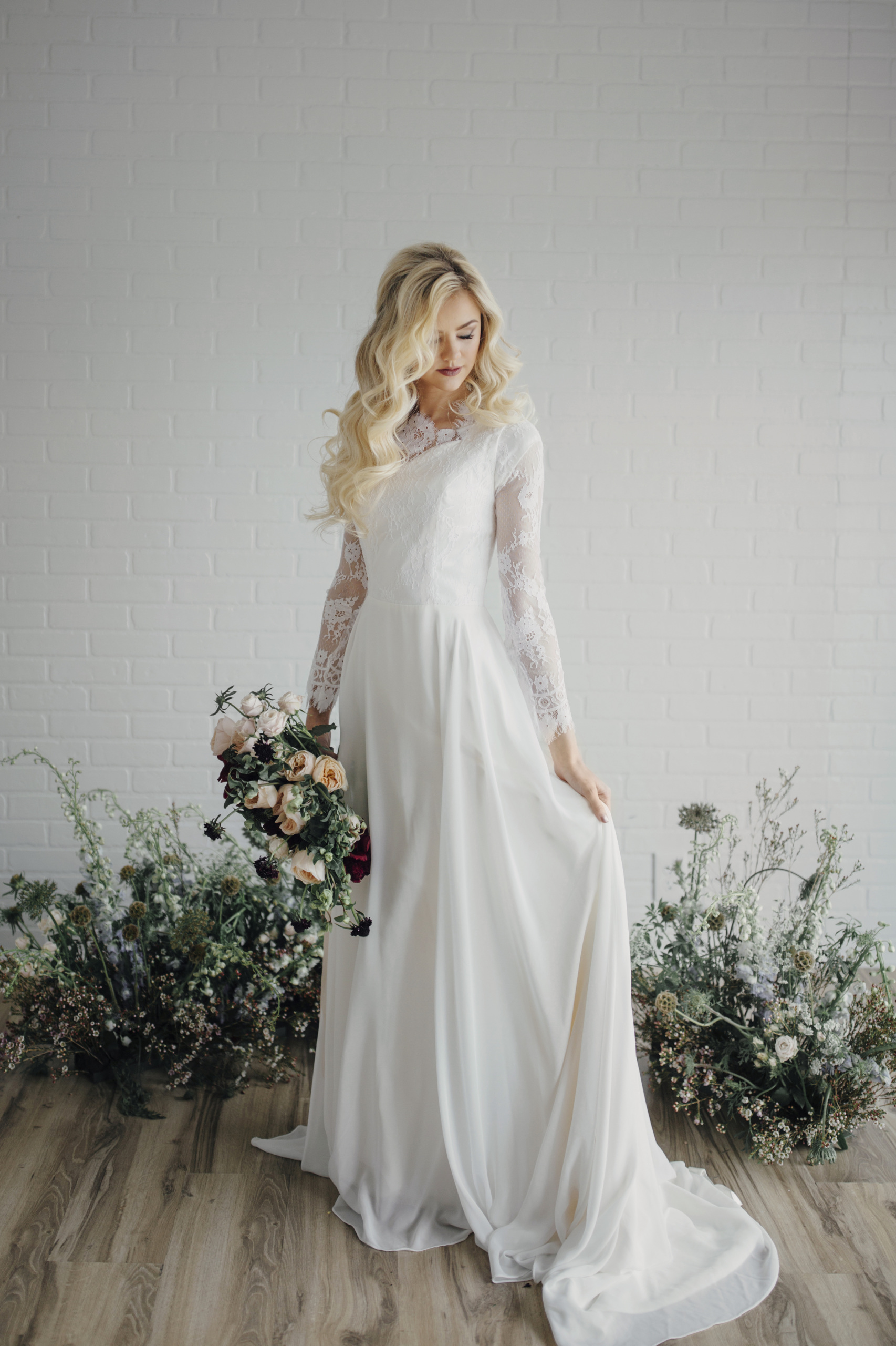 25 Modest Wedding Dresses With Long Sleeves LDS Daily - Lds Wedding Dress